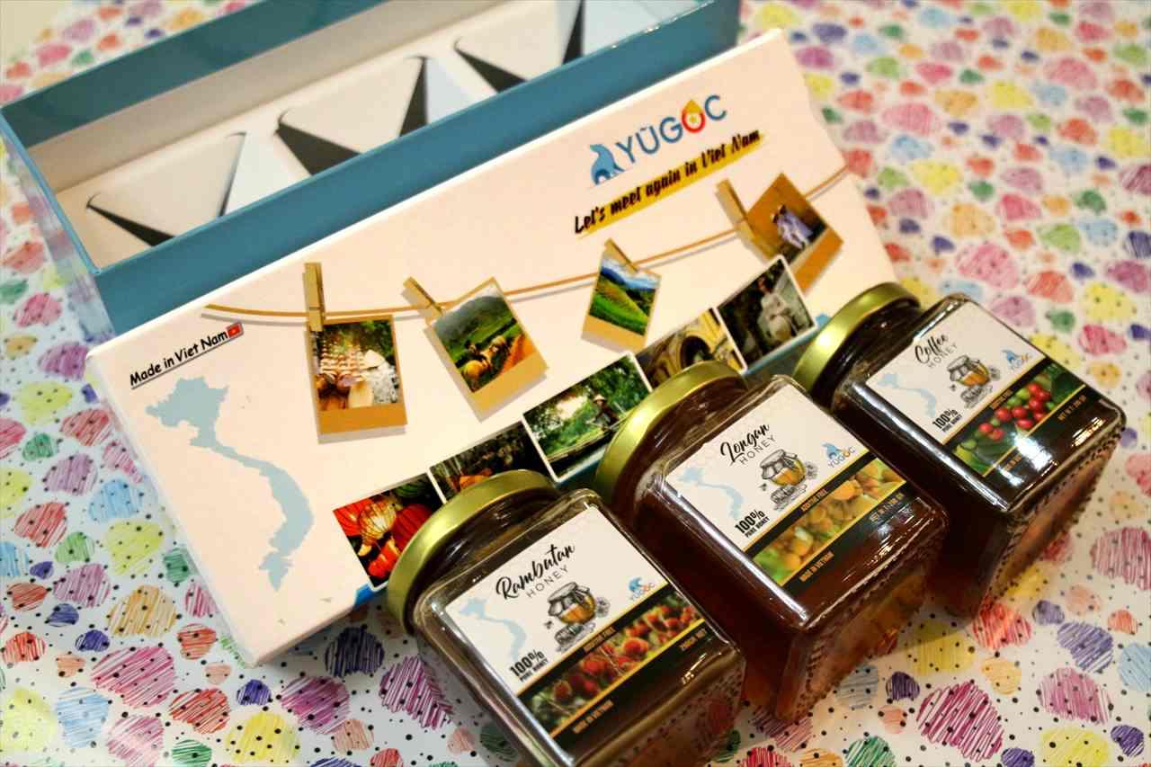 ホーチミンのお土産の蜂蜜の写真