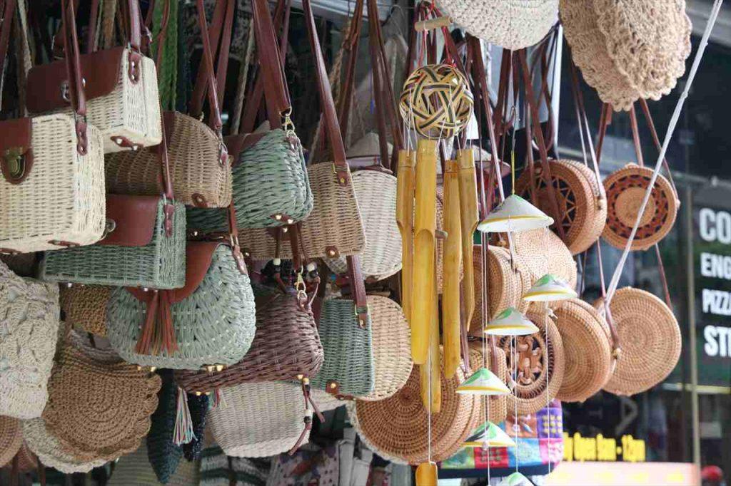 ハノイで買えるバッグの写真