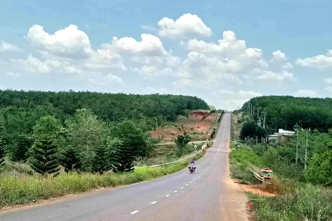 ベトナムドンナイ省の田舎風景